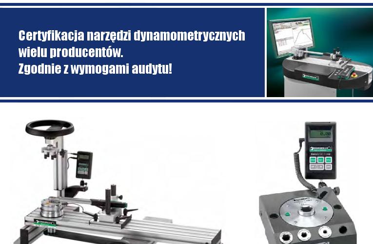 Certyfikacja narzędzi dynamometrycznych wielu producentów