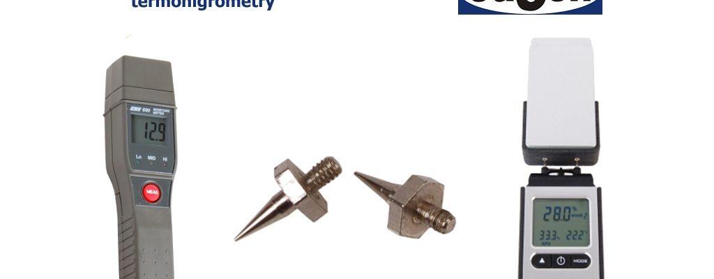Mierniki wilgotności materiałów - termohigrometry