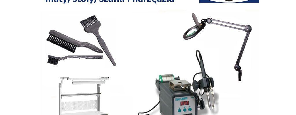 Ochrona antystatyczna ESD - maty, stoły, szafki i narzędzia