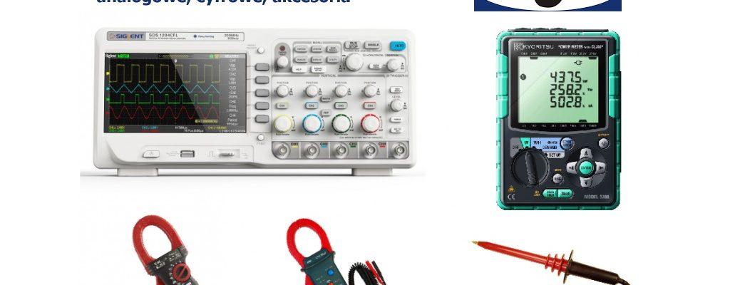 Oscyloskopy i scopometry - analogowe, cyfrowe, akcesoria